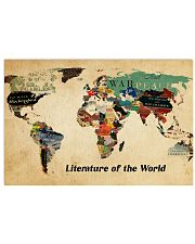 Literature of the world 36x24 Poster front