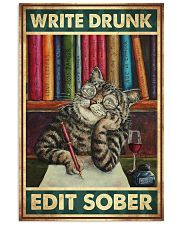 Write Drunk Edit Sober 11x17 Poster front