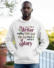 I am a Writer Hooded Sweatshirt apparel-hooded-sweatshirt-lifestyle-front-20