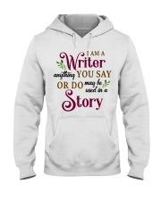 I am a Writer Hooded Sweatshirt front
