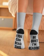 Book Lover Crew Length Socks aos-accessory-crew-length-socks-lifestyle-back-01