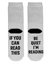 Book Lover Crew Length Socks back