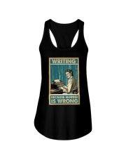 Writing Because murder is Wrong Ladies Flowy Tank thumbnail