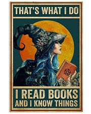 I read books and know things Vertical Poster tile