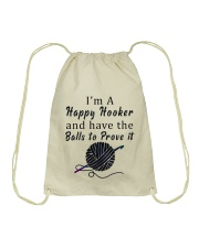 Im A happy hooker  Drawstring Bag thumbnail