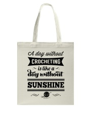 A DAY WITHOUT CROCHETING  Tote Bag front