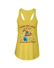 A WOMEN CANNOT SURVIVE ON CAT ALONE-CROCHET Ladies Flowy Tank thumbnail