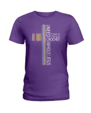 ALL-I-NEED-CROCHET-JESUS2 Ladies T-Shirt thumbnail