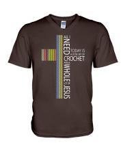 ALL-I-NEED-CROCHET-JESUS2 V-Neck T-Shirt thumbnail