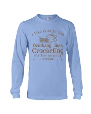 drinking tea and crocheting Long Sleeve Tee thumbnail