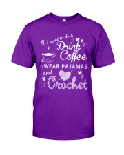 ALL-I-WANT-TO-DO-DRINK-COFFEE-CROCHET Classic T-Shirt thumbnail