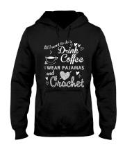 ALL-I-WANT-TO-DO-DRINK-COFFEE-CROCHET Hooded Sweatshirt thumbnail