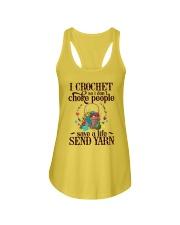 I Crochet So I Don't Choke People Ladies Flowy Tank thumbnail