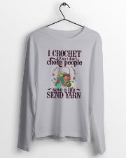 I Crochet So I Don't Choke People Long Sleeve Tee lifestyle-unisex-longsleeve-front-3