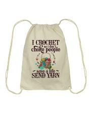 I Crochet So I Don't Choke People Drawstring Bag thumbnail