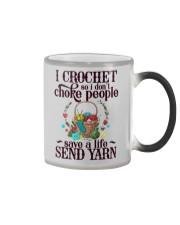 I Crochet So I Don't Choke People Color Changing Mug thumbnail