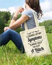 I LOOKED UP MY SYMPTOMS TURN OUT Tote Bag lifestyle-totebag-front-6