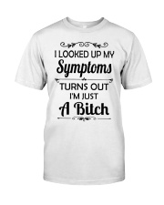 I LOOKED UP MY SYMPTOMS TURN OUT Premium Fit Mens Tee front