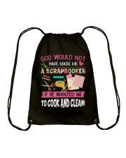 GOD-WOULD-NOT-HAVE-MADE-ME-A-SCRAPBOOKER Drawstring Bag thumbnail