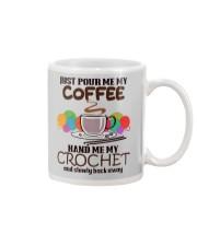 Just Pour Me My Coffee Hand Me My Crochet Mug thumbnail