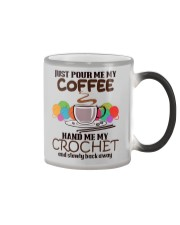 Just Pour Me My Coffee Hand Me My Crochet Color Changing Mug thumbnail