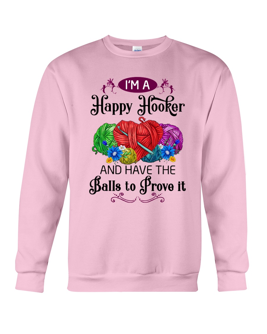 I'M A HAPPY HOOKER - CROCHET2 Crewneck Sweatshirt
