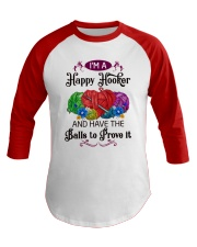 I'M A HAPPY HOOKER - CROCHET2 Baseball Tee thumbnail