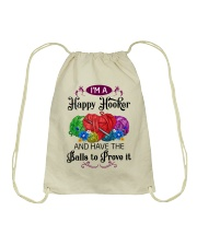 I'M A HAPPY HOOKER - CROCHET2 Drawstring Bag thumbnail