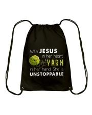 Jesus and Yarn Drawstring Bag thumbnail