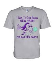 Oh-Look-New-Yarn V-Neck T-Shirt thumbnail