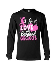 Leopard Gecko Just Love My Leopard Geckos Gift Fun Long Sleeve Tee thumbnail