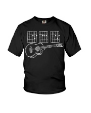 Acoustic Guitar Dad Chords Tshirt Funny T-shirt Youth T-Shirt tile
