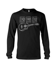Acoustic Guitar Dad Chords Tshirt Funny T-shirt Long Sleeve Tee tile