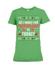Turkey shirts - Christmas shirts - Xmas gift Premium Fit Ladies Tee thumbnail