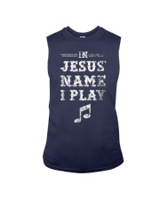 Mens In Jesus Name I Play Christian Musician Fun M Sleeveless Tee thumbnail