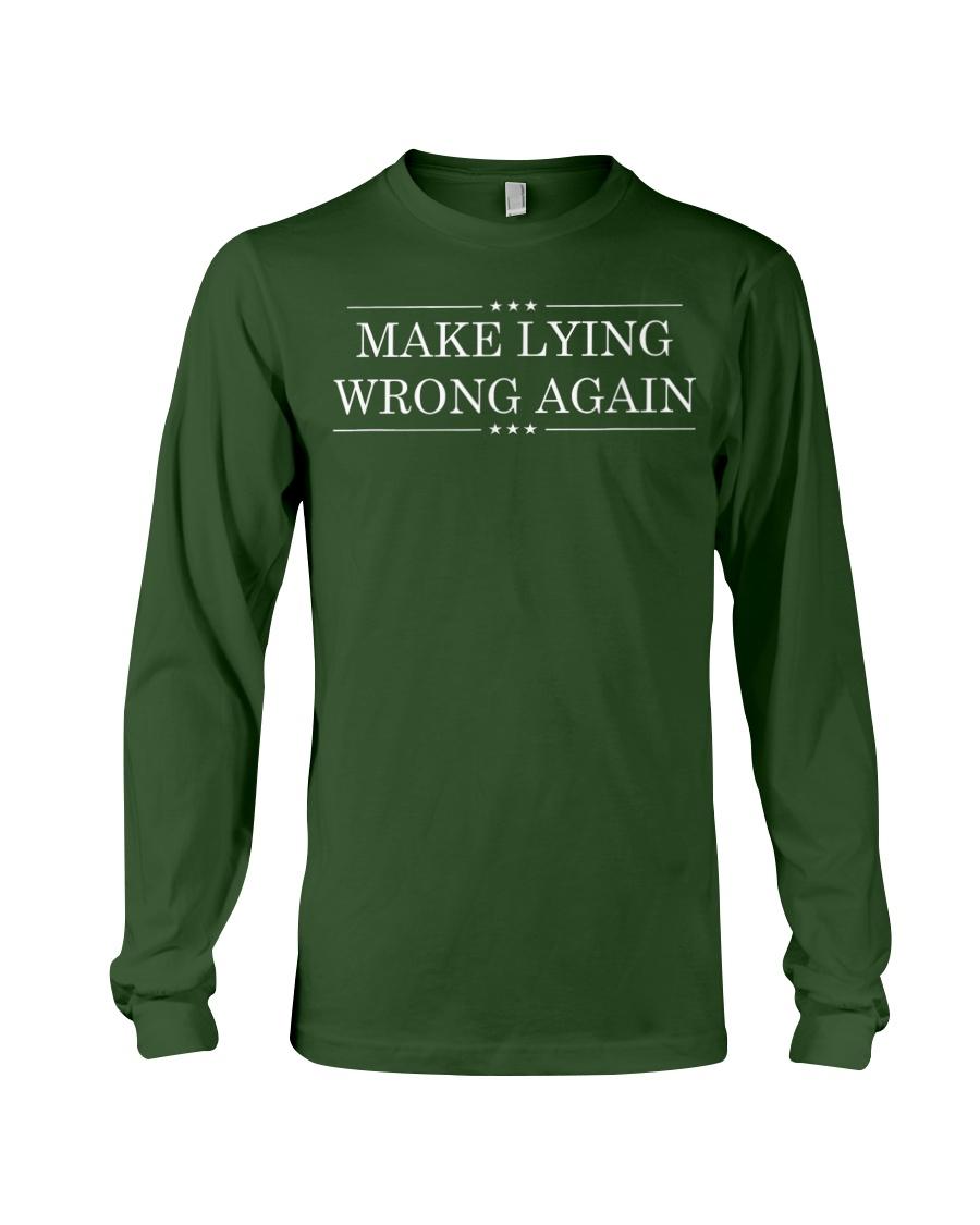 Make Lying Wrong Again Resist All Racism Tshirt Long Sleeve Tee