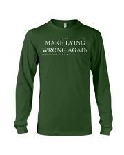 Make Lying Wrong Again Resist All Racism Tshirt Long Sleeve Tee front