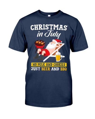 Christmas In July Just Beer And BBQ TShirt