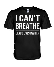 I Cant Breathe Black Lives Matter TShirt V-Neck T-Shirt thumbnail