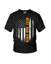 Vintage Best Dad Ever Shirt American Flag Tshirt Youth T-Shirt tile