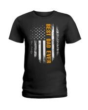 Vintage Best Dad Ever Shirt American Flag Tshirt Ladies T-Shirt thumbnail