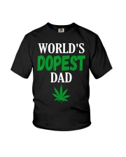 Worlds Dopest Dad Weed Marijuana Youth T-Shirt thumbnail