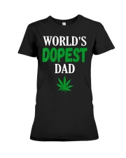 Worlds Dopest Dad Weed Marijuana Premium Fit Ladies Tee thumbnail