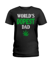 Worlds Dopest Dad Weed Marijuana Ladies T-Shirt thumbnail