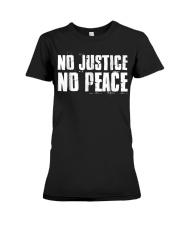 No Justice No Peace  Black Lives Matter TShirt Premium Fit Ladies Tee thumbnail