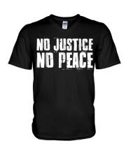 No Justice No Peace  Black Lives Matter TShirt V-Neck T-Shirt thumbnail