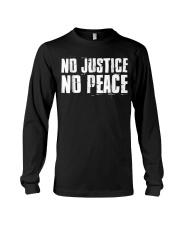 No Justice No Peace  Black Lives Matter TShirt Long Sleeve Tee thumbnail