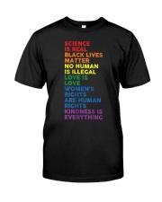Distressed Science Is Real BLM LGBT Pride Premium Fit Mens Tee thumbnail