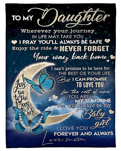 To my Daughter Fleece Blanket