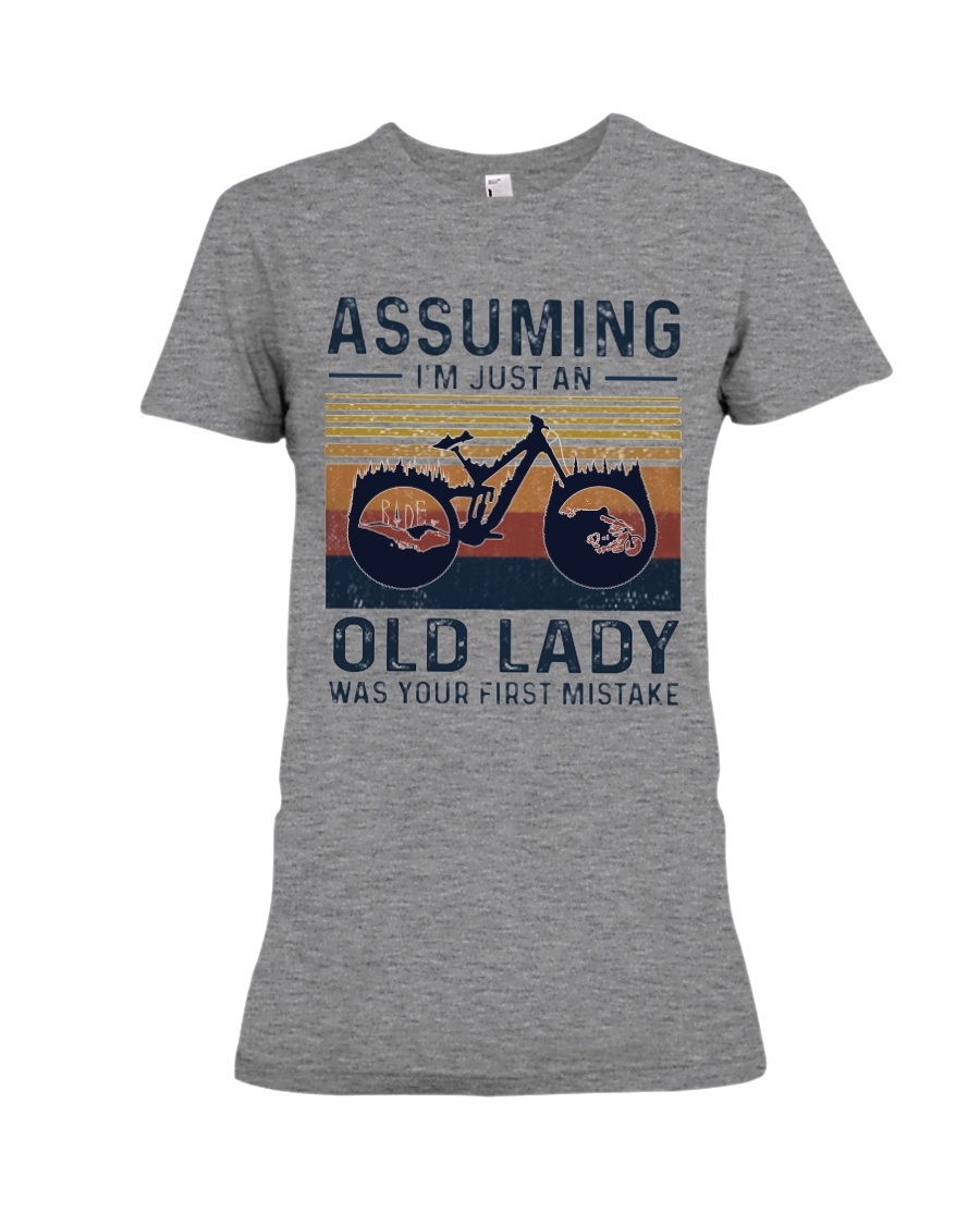 Biking mountain women3 - Limited Edition Premium Fit Ladies Tee